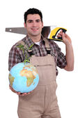 Tradesman dedicated to developing the world — Stock Photo