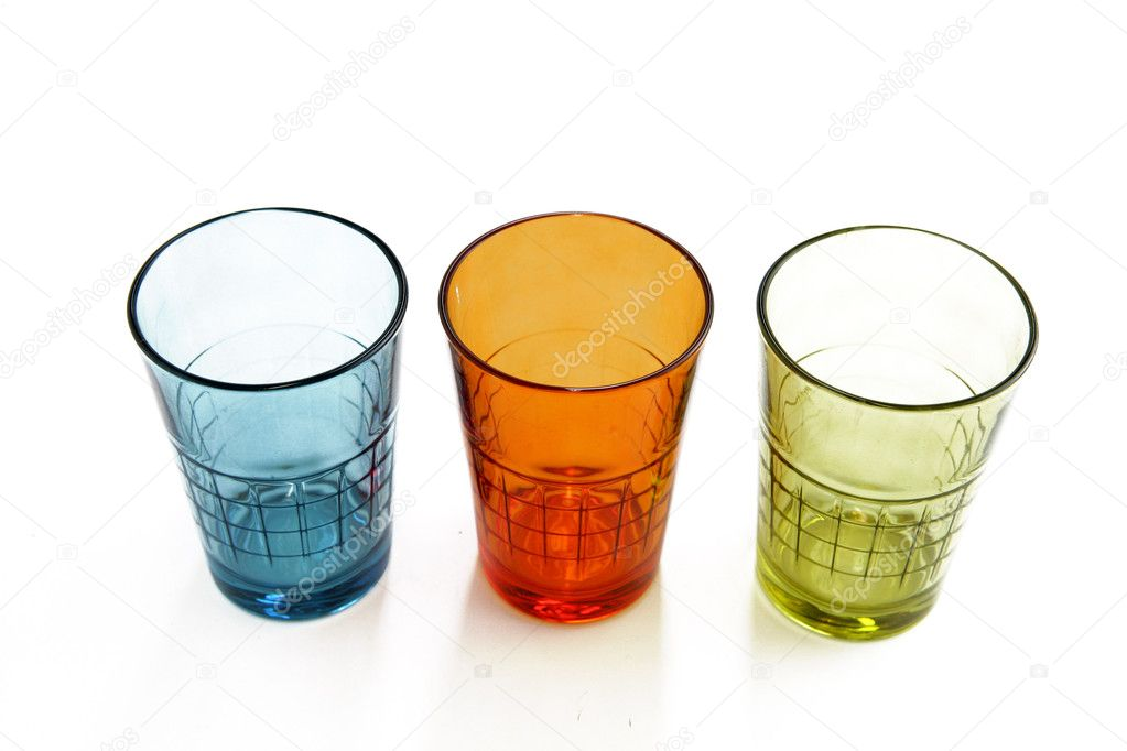 Three colorful glasses — Stock Photo #10902504