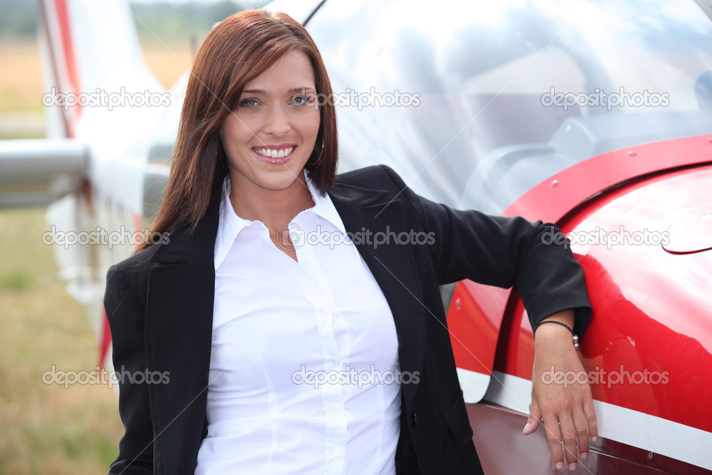 Airplane Pilot  Stock Photo #10909102