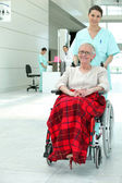 Invalid woman in hospital — Stock Photo