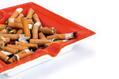 Overflowing ashtray — Stock Photo