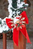 Christmassy cabin — Stock Photo