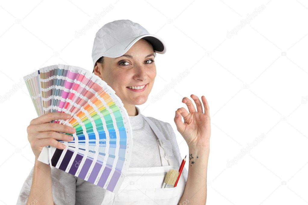 Painter has finally chosen a color — Stock Photo #10911255