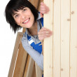 Female furniture maker — Stock Photo