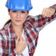 Foto de Stock  : Tradeswomready to fight
