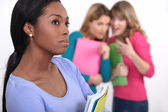Students being bullied — Stock Photo
