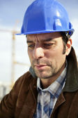 Building constultant on site — Stock Photo