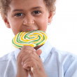 Little boy with lollipop — Stock Photo