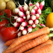 Radishes and other vegetables — Stock Photo #10970550