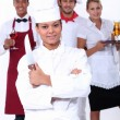 Stock Photo: Catering professionals