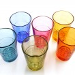 Selection on colorful drinking glasses — Stock Photo #10971191