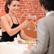 Couple in a restaurant — Stock Photo #10972554