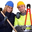 Male and female manual workers — Stock Photo #10972794