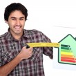 Stock Photo: Mwith energy rating sign