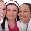 Three woman dressed in gym wear — Stock Photo #10974047