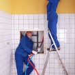 Plumbing team — Stock Photo