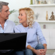 Mature couple with computer — Stock Photo #10975320
