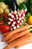 Radishes and other vegetables — Stock Photo