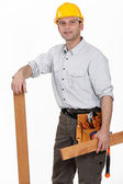 A male carpenter. — Stock Photo