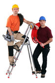 Plumber and an electrician — Stock Photo