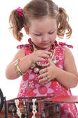 Girl with Necklace — Stock Photo