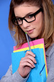Young girl with glasses — Stock Photo