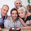 Family celebrating birthday - 