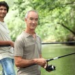 Stock Photo: Family Fishing
