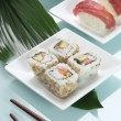 preparation of sushis — Stock Photo