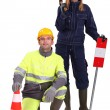 Road workers. — Stock Photo