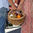 Couple shopping at local market — Stock Photo #11026411