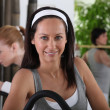 Stock Photo: Women in fitness room