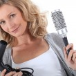 Stock Photo: Female hairdresser