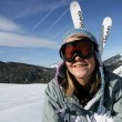 Girl skier — Stock Photo #11027377