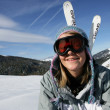 Stock Photo: Girl skier