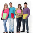 Foto Stock: College students