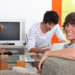 Friends at home — Stock Photo