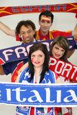 Zwolennicy europy w piłce nożnej — Zdjęcie stockowe