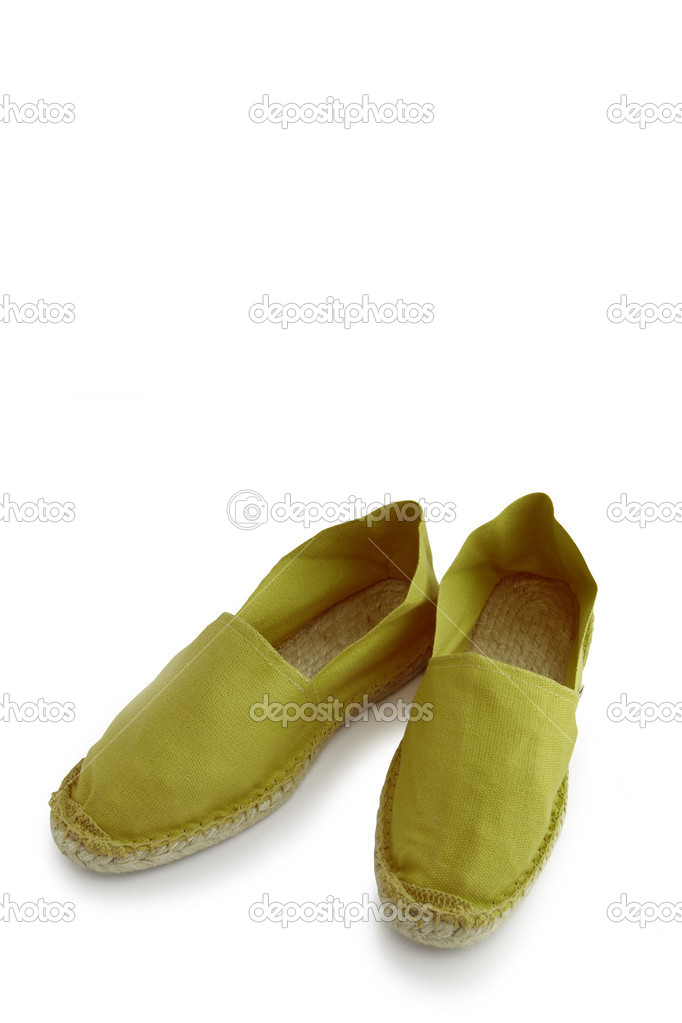 Green espadrilles — Stock Photo #11029340