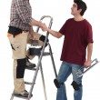 Duo of craftsmen shaking hands — Stock Photo #11030037