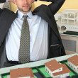 Architect happy with the result of his hard work — Stock Photo #11030520