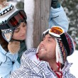 Couple on skiing trip — Stock Photo #11030532