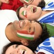 Italy supporters screaming — Stock Photo
