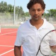 Stock Photo: Tennis player