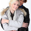 Embracing couple — Stock Photo #11033559