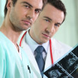 Medical staff examining echography — Stockfoto #11035075