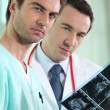 Stockfoto: Medical staff examining echography