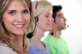 A customer service hotline. — Stock Photo