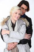 Embracing couple — Stock Photo