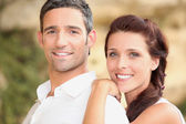 Young smiling couple — Foto de Stock